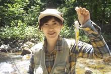 Y子、カディスで21cmのイワナをゲット!
