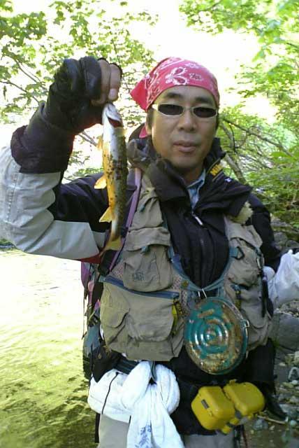 和賀川水系某沢で岩魚ゲット