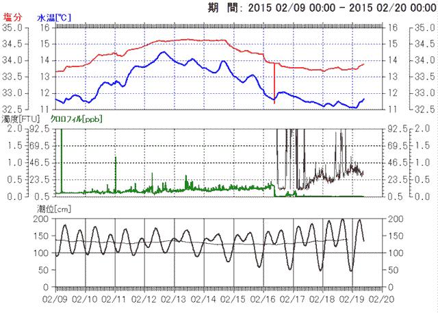 2015/2/19 三崎瀬戸海況データ