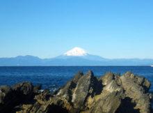 城ヶ島から見る富士山